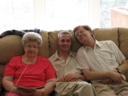 Grandma, my brother, my dad, 2008